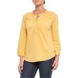 Lucky Brand Embroidered Henley Shirt - Long Sleeve